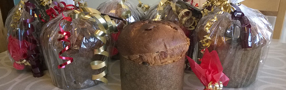 Our traditional four-dough artisan panettone ready for Christmas delivery. © Martin Belderson
